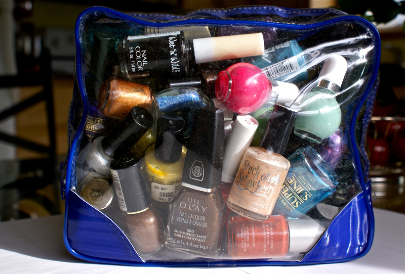 Old nail polish stash!