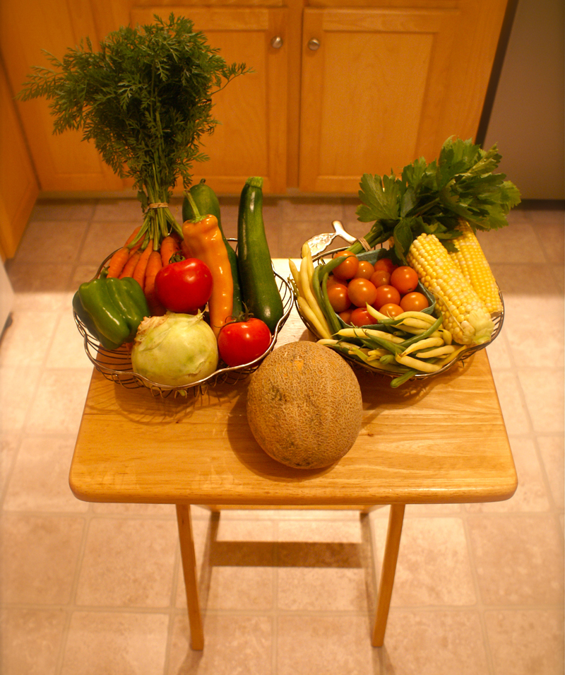 Veggies and fruit from Week 9