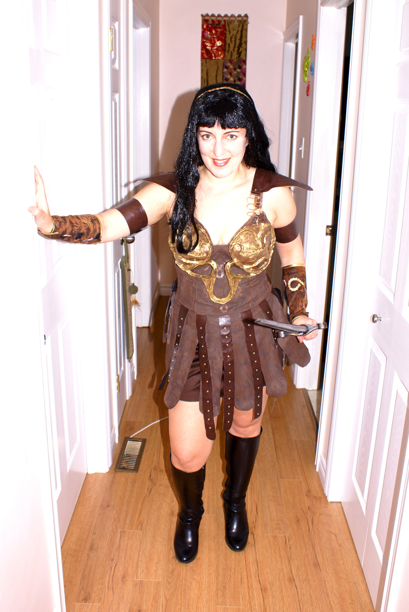 Xena Halloween Costume ... The results! My ti...