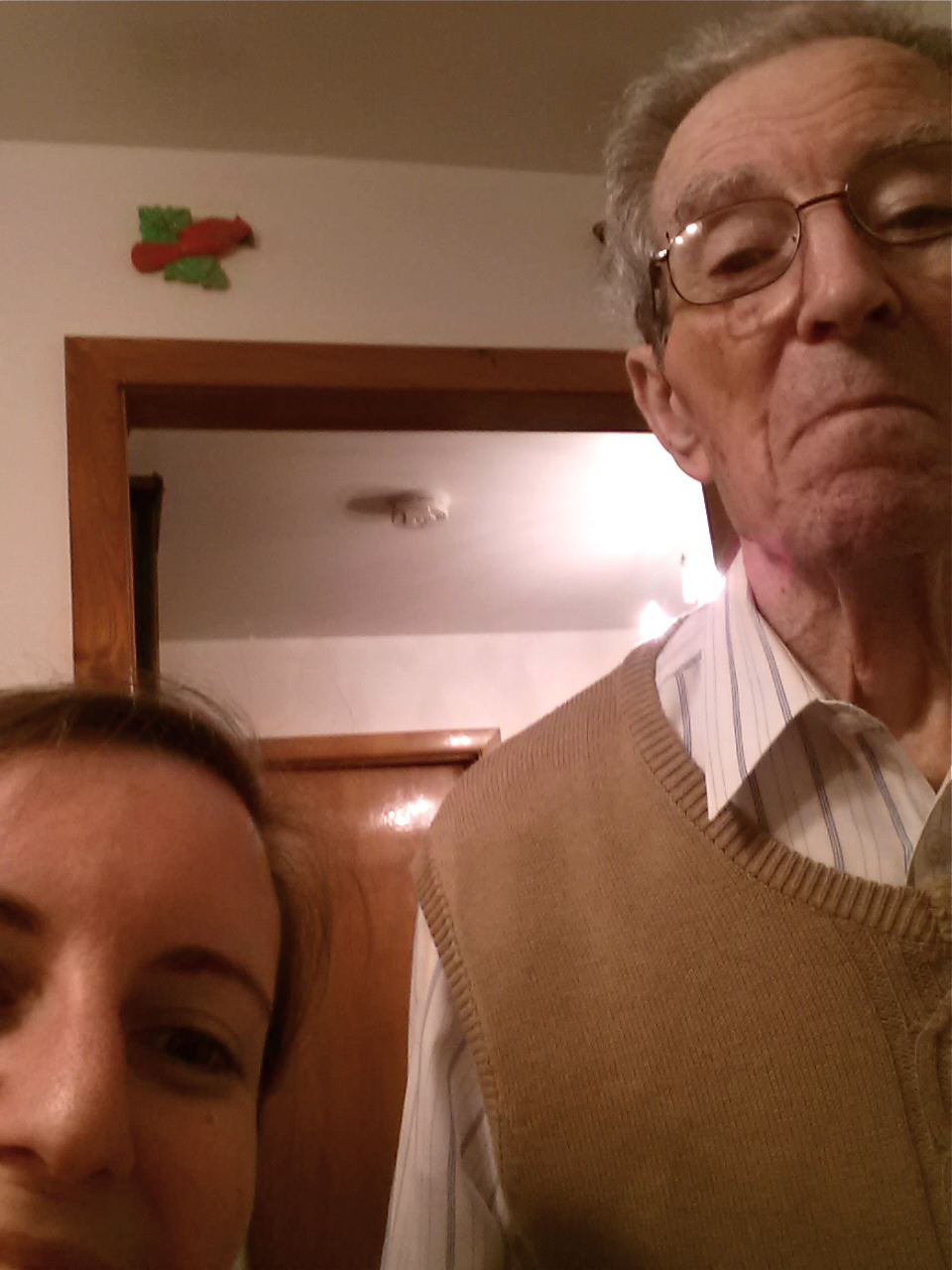 Showing Nonno how to take a selfie
