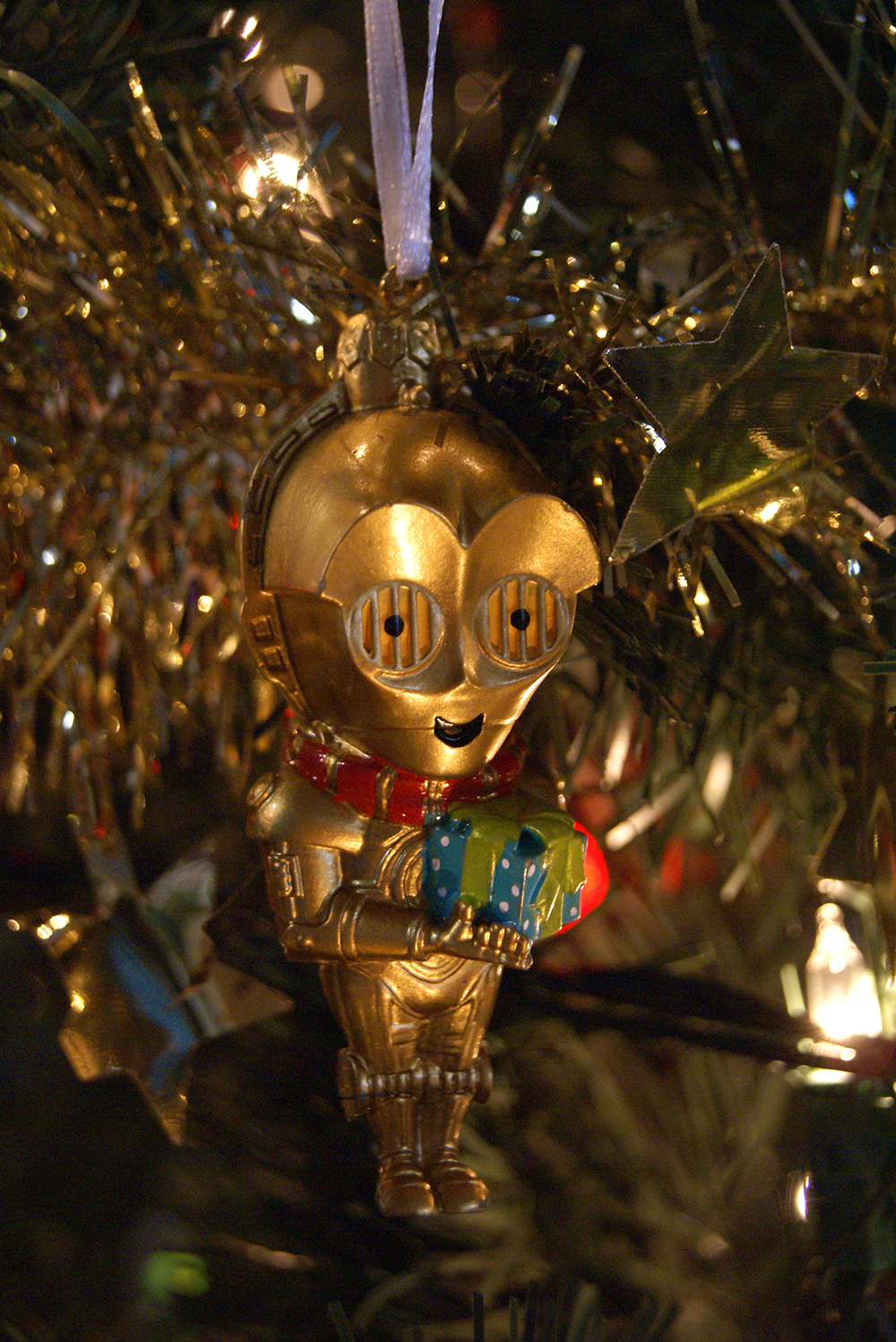 Rowan's C-3PO ornament - from Jeff, Jocelyn, and the kids