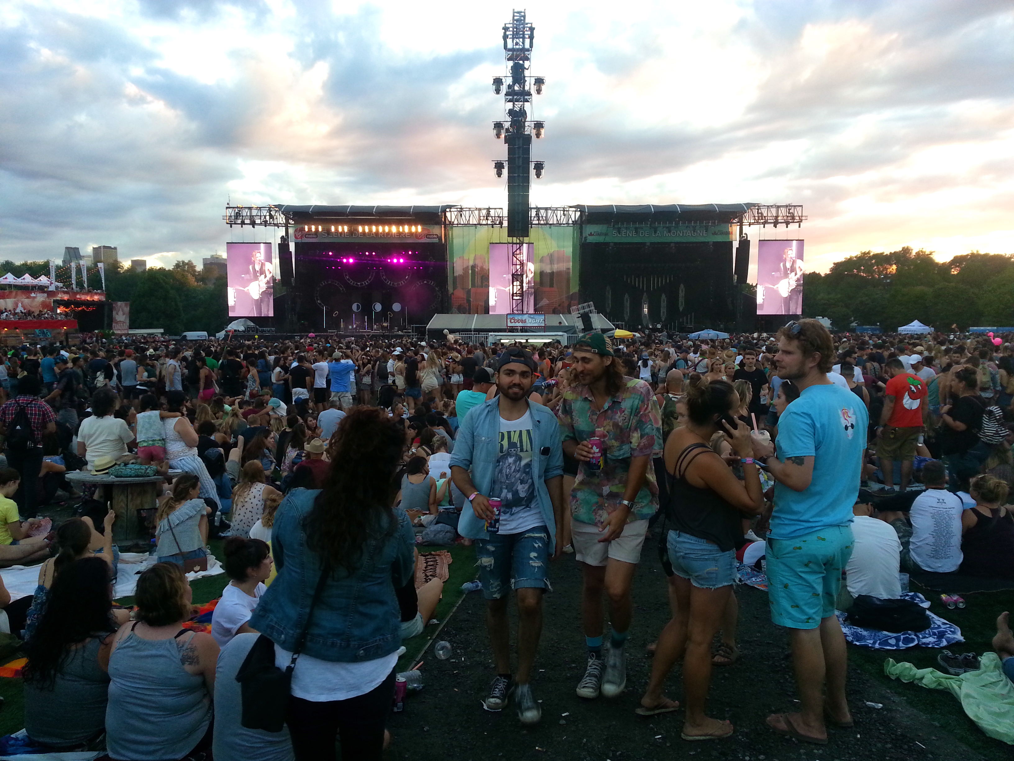 Ahhh, more breathing room! And a pretty good look at the side-to-side main stages at Osheaga 2016.
