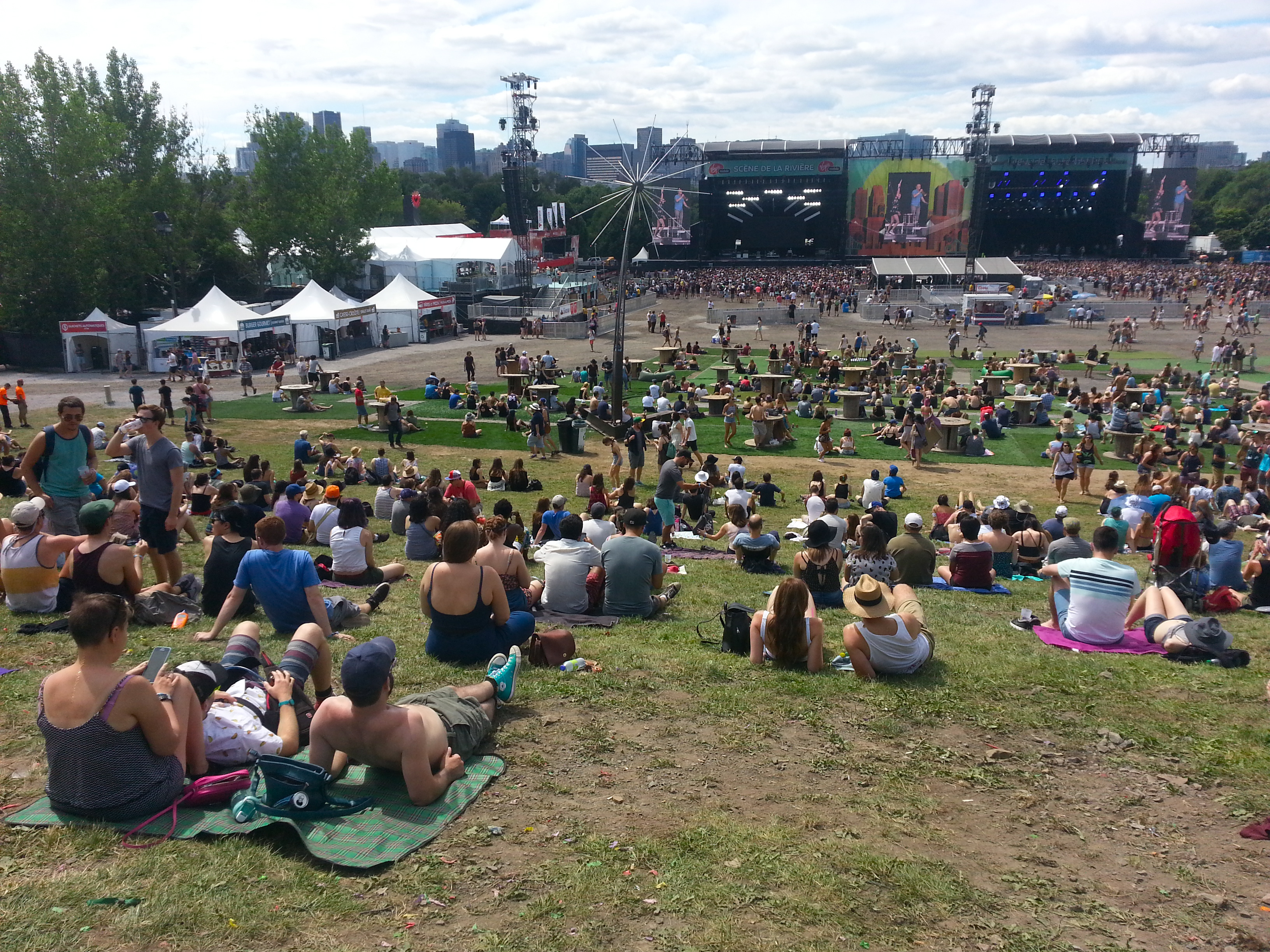 Day 2: Hanging on the hill, waiting for July Talk to start