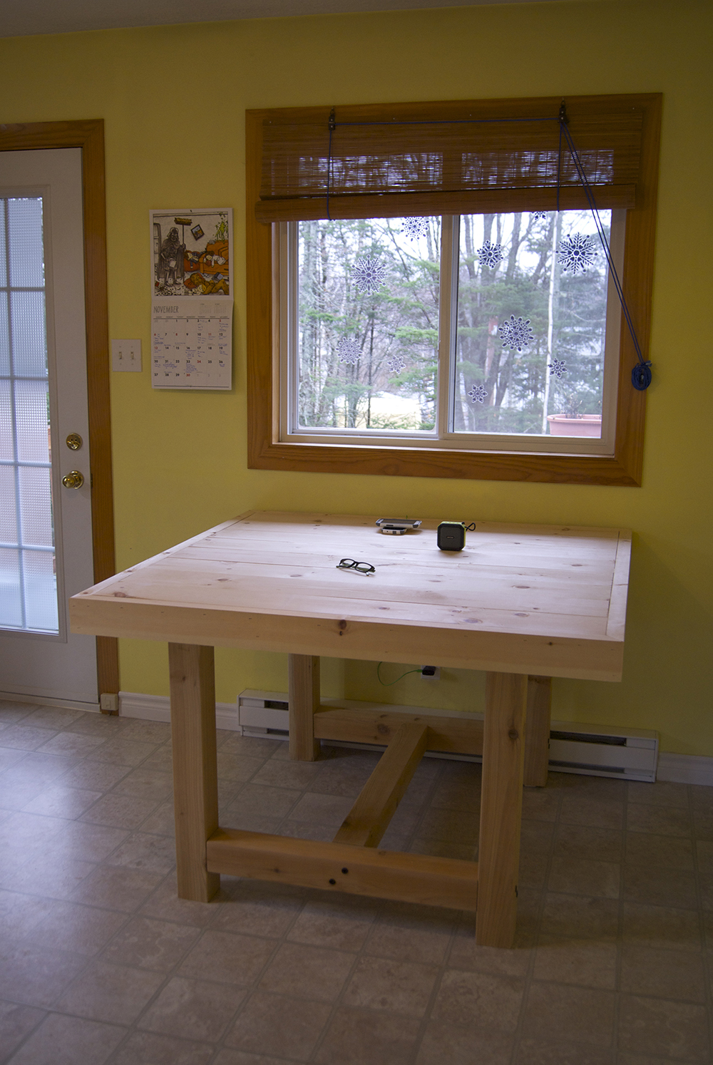 Morning: Adding the table trim, and looking more complete!
