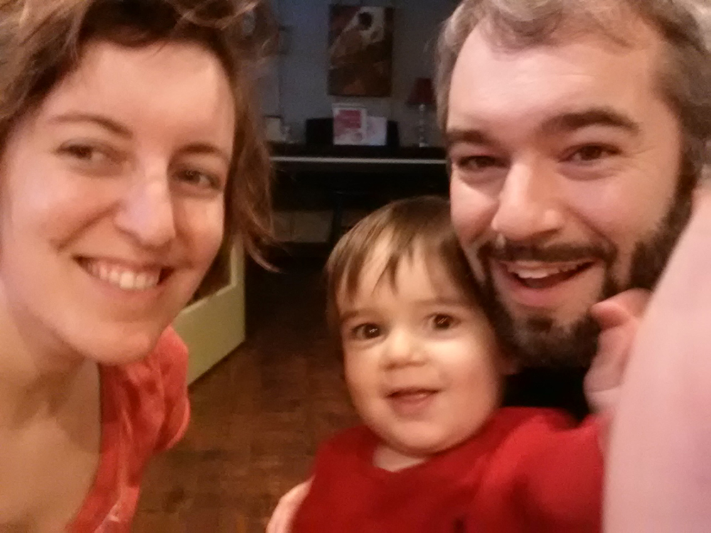 Quick and blurry Christmas Day family selfie - whoops, distracted!