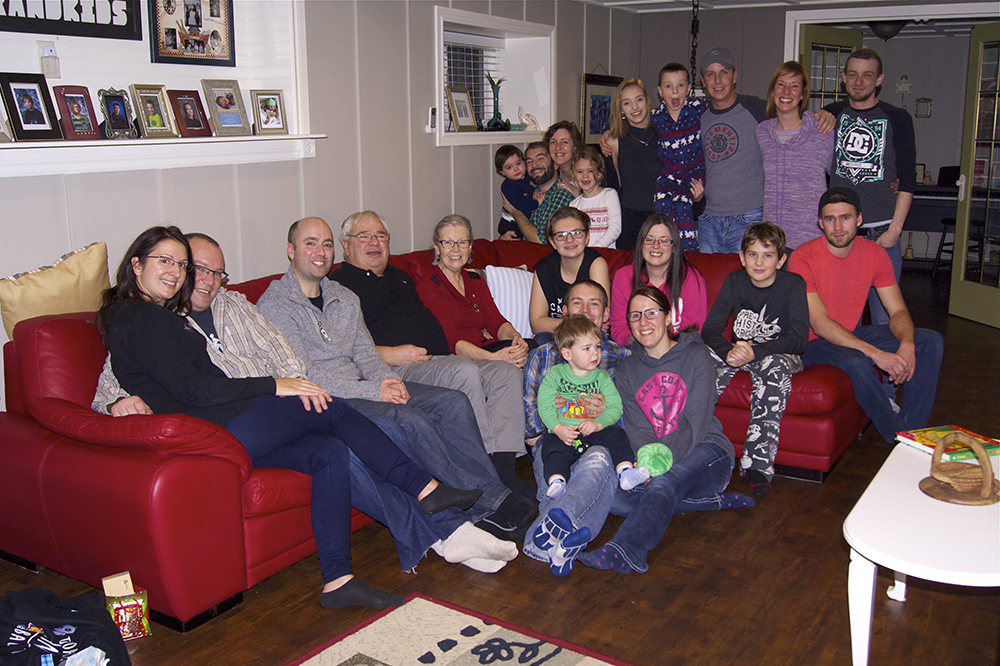 Almost the entire family crew - just missing Susanne