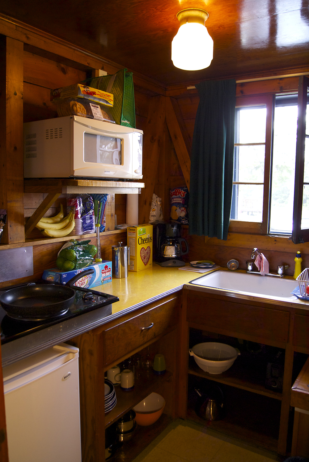 Our sweet little kitchenette at the cabin