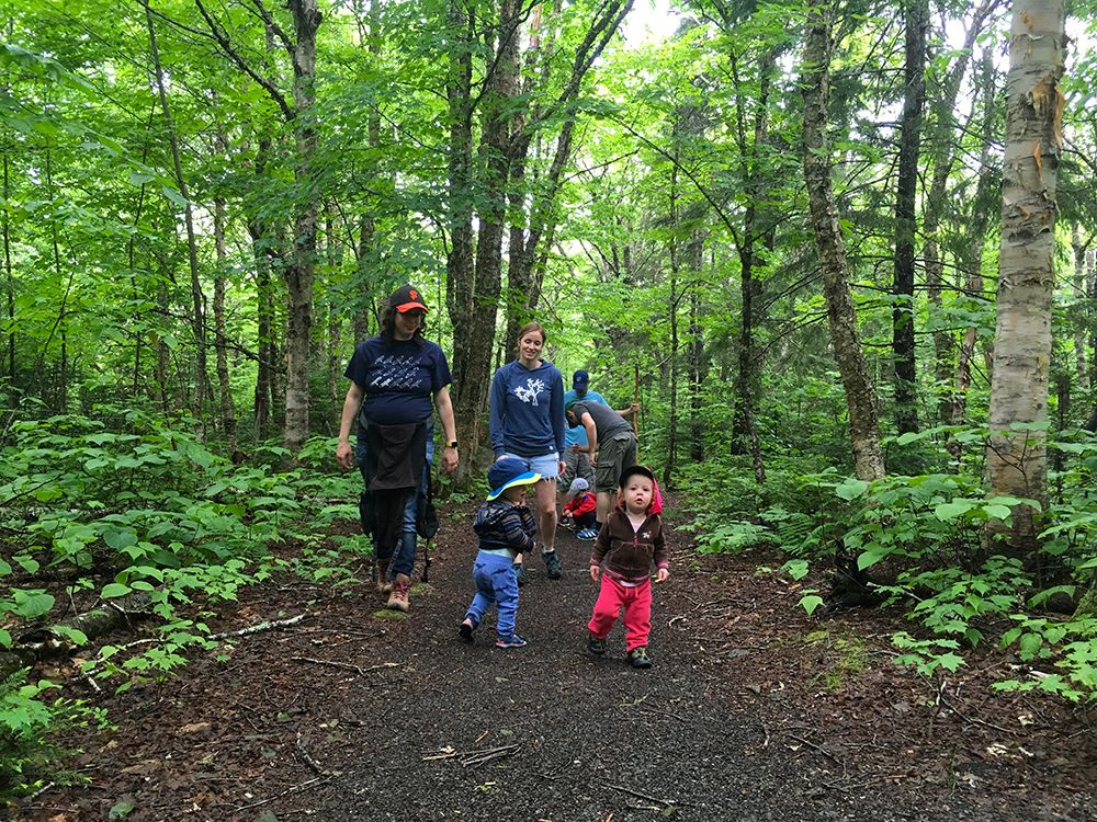 Taking the kiddos on a 2+ km hike in the park